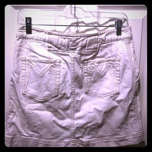 MARC JACOBS White Denim Jean Mini Skirt Small 4